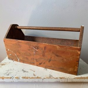 Tool Caddy Repurpose Centerpiece Wooden Vintage
